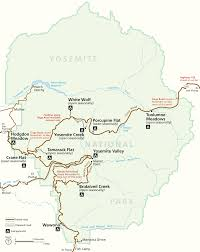 Map Of Us Without Names Places To Go Yosemite National Park U S National Park Service