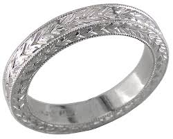 engraved wedding rings gentleman s engraved wedding band bijoux extraordinaire