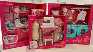 Pink Retro Kitchen Collection Our Generation Doll Tumble U0026 Spin Laundry Set Review Youtube