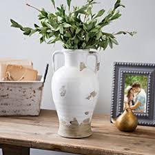 White Ceramic Jug Vase Functional Decor Kirklands