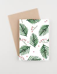 christmas cards in watercolor seasonal sprigs 2015 christmas and new years greetings