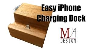 diy wood charging station diy iphone charging dock youtube