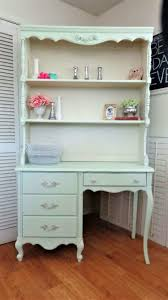 pretty and cozy girls desk with hutch lonely moon home ideas