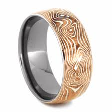 mokume gane copper and silver mokume gane ring with titanium 2147 jewelry by