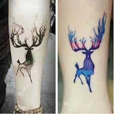waterproof temporary tattoo sticker 10 5 6 cm moose deer bucks