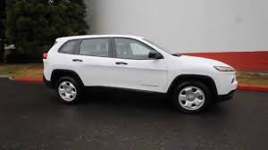 suv jeep white 2015 jeep cherokee sport white fw531369 redmond seattle