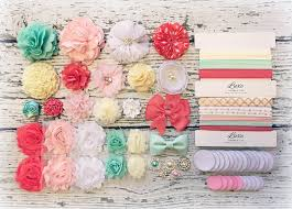 coral baby shower diy baby shower headband station makes 15 or 25 headbands