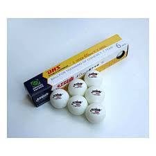 Dhs Table Tennis by Table Tennis Balls One Star White X 6
