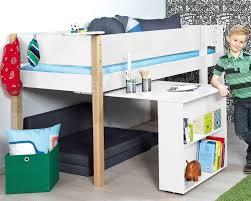 Mini Schreibtisch Mini Hochbett Mit Auszieh Schreibtisch Und Regal Kids Town