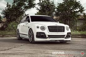 2017 bentley bentayga white ground effects vossen custom wheels on astonishing bentley