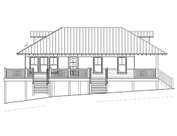 Beach House Plans On Piers by Beach Style House Plan 2 Beds 1 00 Baths 869 Sq Ft Plan 536 2