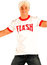 freddie mercury halloween costume flash gordon logo red ringer t shirt blonde wig costume set