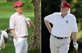golf diplomacy trump and japanese prime minister to hit the links