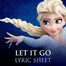 let it go frozen sing along lyrics soundtrack disney frozen