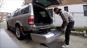 nissan sentra rear bumper how to remove rear bumper cover nissan pathfinder 00 04 youtube