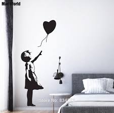 compare prices on silhouette wall art online shopping buy low mad world bansky girl silhouette balloon wall art stickers wall decal home diy decoration removable