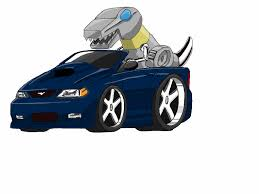cartoon sports car png grimlock driving a mustang by grimlockgt on deviantart