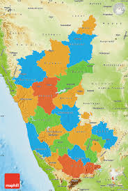 Physical Map Of India by Political Map Of Karnataka Physical Outside