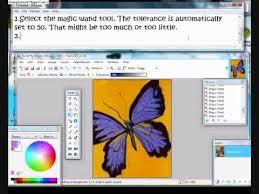 magic wand tutorial paint net youtube