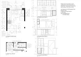 kitchen floor plan tile layout elevation building plans online