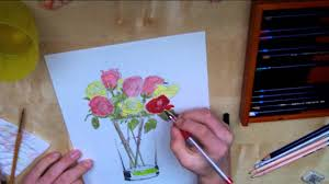 Drawings Of Flowers In A Vase Flowers In A Vase Time Lapse Drawing Youtube