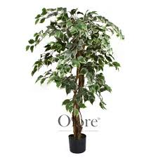 artificial ficus tree variegated 4ft indoor artificial tree by
