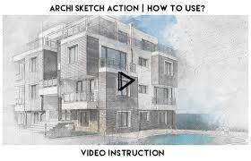 archi sketch photoshop action by eugene design graphicriver