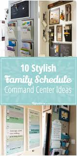 kitchen bulletin board ideas 10 stylish family schedule and command center ideas tip junkie