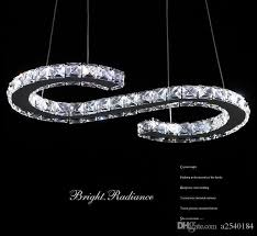 Chandelier Shapes New Crystal Orbital S Shapes Stainless Steel Crystal Led Pendant