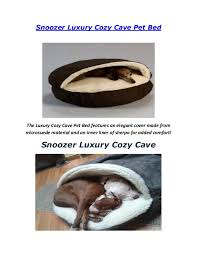 snoozer luxury cosy cave pet bed