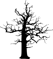 halloween black and white clipart clipart halloween large dead tree