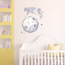 cow jumps over the moon wall sticker by oakdene designs cow jumps over the moon wall sticker