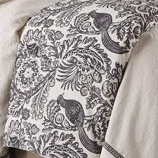 French Toile Bedding Augusta Toile Duvet Cover Hiend Accents Augusta Black Bird