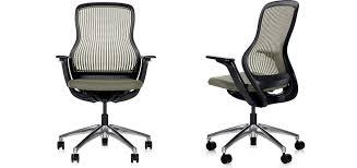 fauteuil bureau knoll chaise de bureau contemporaine à roulettes en métal en