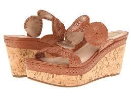 jack rogers leigh cognac cork brown wedge platform slip on sandal