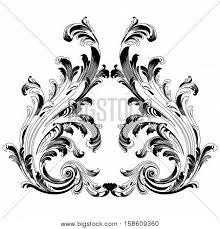 baroque swirl images illustrations vectors baroque swirl stock