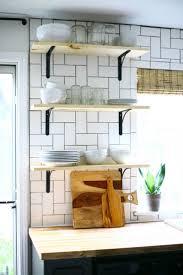 kitchen nice white sleek kitchen cabinet nice wall open shelving