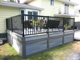 fiberon low maintenance composite deck edmonton modern deck