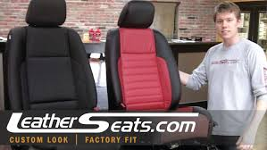 2010 mustang seat covers 2010 ford mustang leather interior converstion upgrade kit