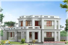 flat roof modern home design kerala house plans including