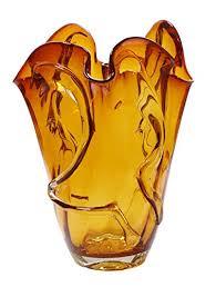 Yellow Glass Vase Amber Glass Vases