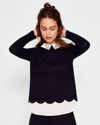 sweaters for sale factory direct ted baker suzaine embellished collar sweater with