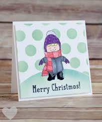 use this fun masking technique when creating christmas cards