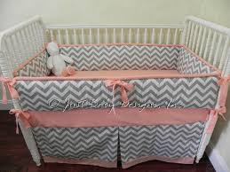 custom baby bedding set zara gray chevron babybedding