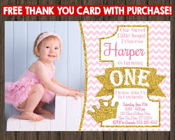 Create 1st Birthday Invitation Card For Free Etsy 1st Birthday Invitations Vertabox Com