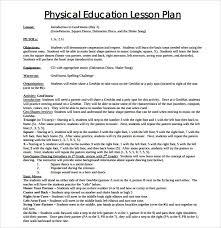sample physical education lesson plan template hitecauto us