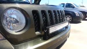 jeep light bar grill jeep patriot front bumper lightbar mount tips youtube