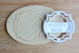 wedding cookie cutters thank you cookie cutter 3d printed wedding cookie cutter