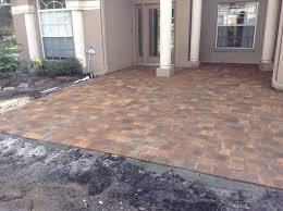 Basket Weave Brick Patio by Brick Paving Tampa