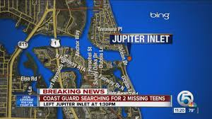 Map Jupiter Florida by U S Coast Guard Searching For Two Missing Teens Aboard 19 Foot